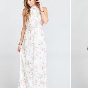 SMYM Collette Collar dress floral maxi halter